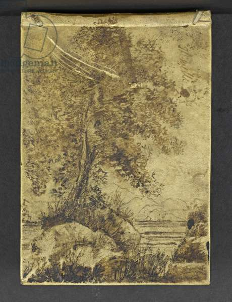Front Cover of 'A Philosophical View of Reform', c.1819-20 (ink on vellum)