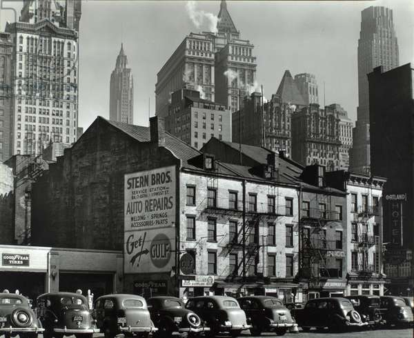 Vista from West Street, 115-119 West Street, Manhattan, 1938 (gelatin silver print)