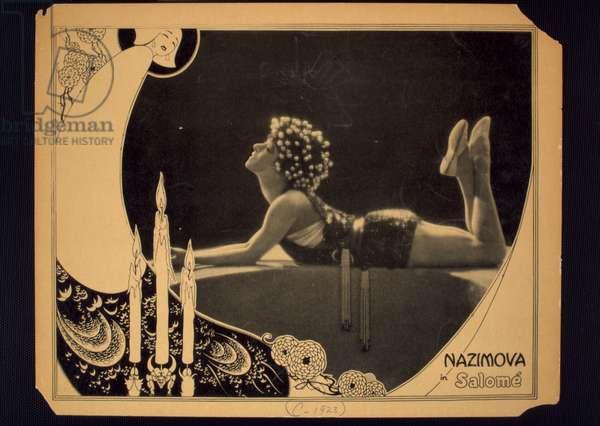 Nazimova in Salome (litho)