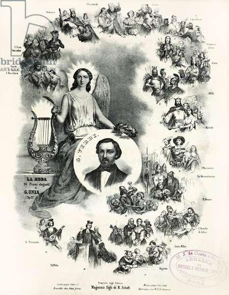 The Operas of Giuseppe Verdi (litho)