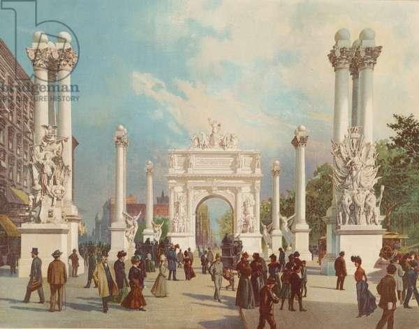 The Dewey Arch, 1900 (colour litho)