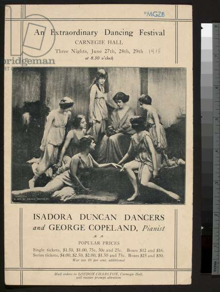 'An Extraordinary Dancing Festival', Carnegie Hall, 27th June 1918 (litho)