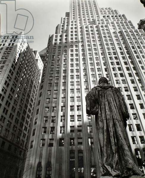 John Watts statue, Manhattan, 1st march, 1938 (gelatin silver print)