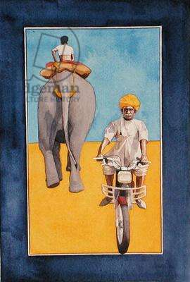 Motorbike, 1997 (w/c on paper)