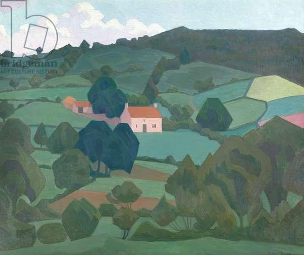 Burford Farm, Devon, 1918 (oil on canvas)
