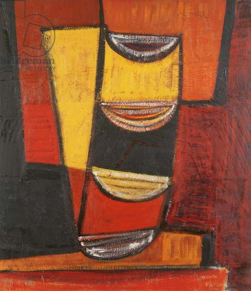Red, Yellow and Black, 1955 (oil on canvas)