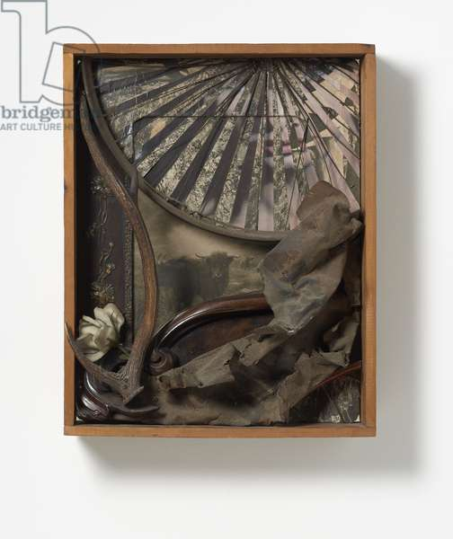 Untitled, c.1961 (collage & assemblage on wooden palette)