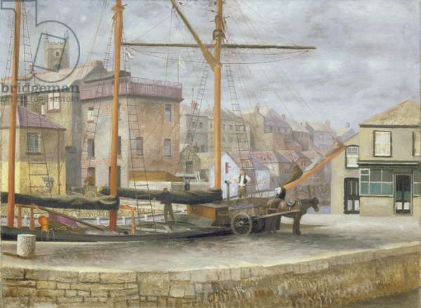 In Falmouth Harbour, 1935 (oil on canvas)