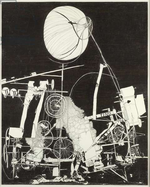 H2NY Interrupted Climax, 2007 (oilstick on paper)