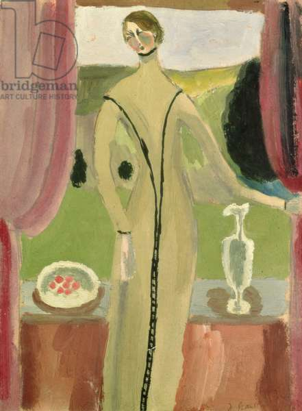 Woman at the Window, c.1919 (gouache on paper)