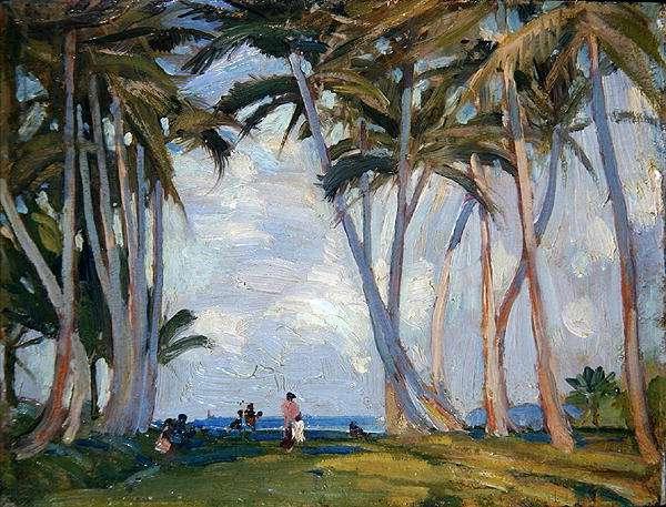 Jamaican Landscape, 1937 (oil on panel)