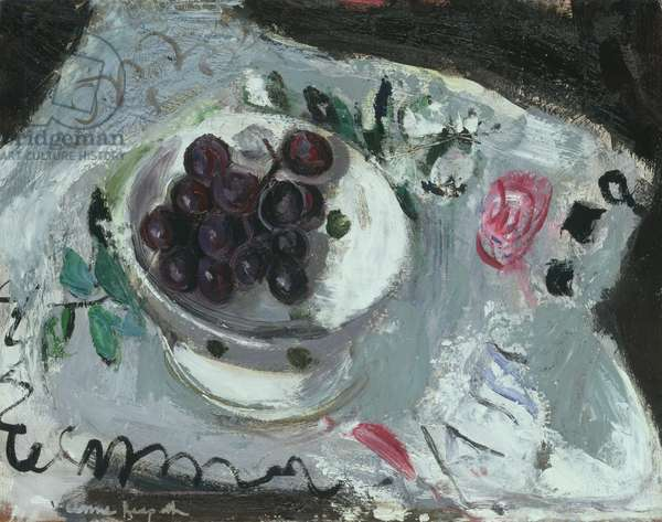 Dish of Grapes, c.1957 (oil on board)