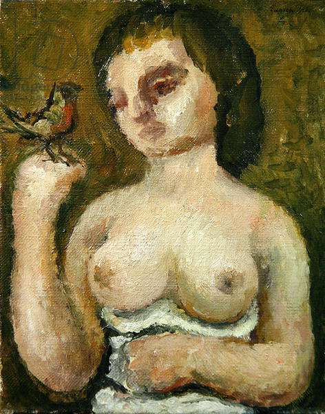 Woman and Bird, 1928 (oil on canvas)