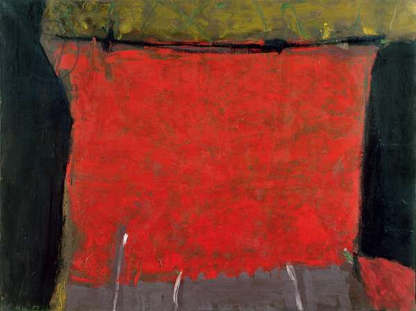 Red, Black and Intensities, 1959 (oil on canvas)