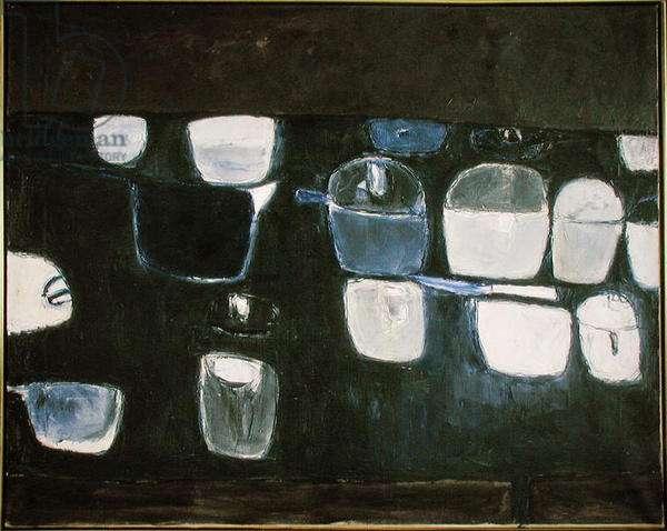 Blue Still Life 2, 1957 (oil on canvas)