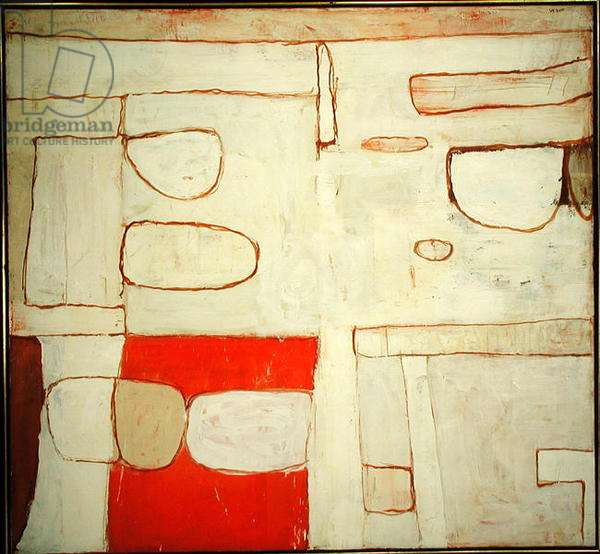 Nile Valley - Red and White, 1962 (oil on canvas)