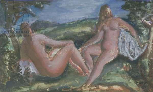 Bathers, c.1940 (gouache on paper)