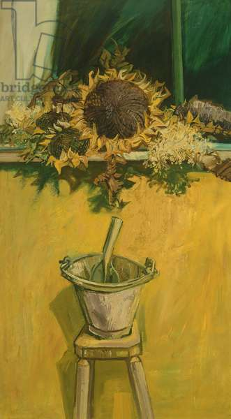 Sunflowers in an Electric Light, 1956 (oil on canvas)