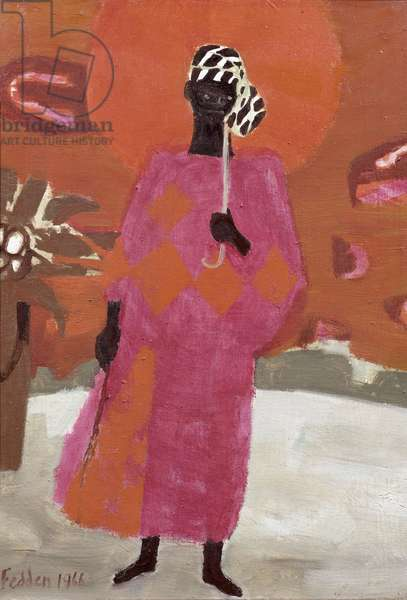 The Orange Umbrella, 1966 (oil on canvas)