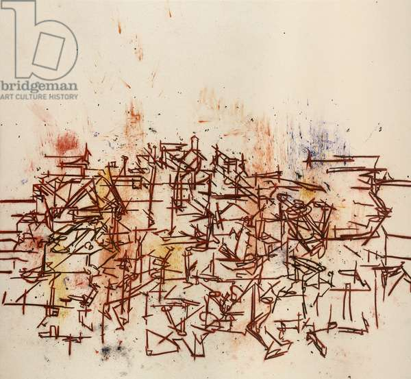 Table Top, 2009 (acrylic & charcoal on canvas)