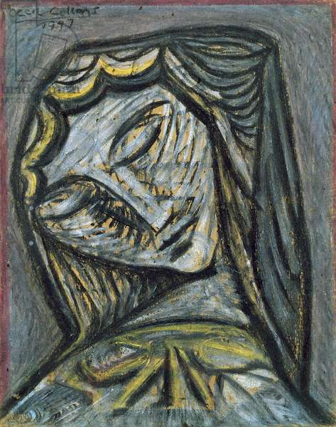 Head, 1947 (pastel on paper)