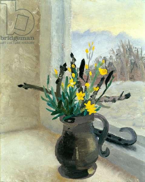 Horsechestnut Buds and Winter Flowering Jasmine, c.1930 (oil on canvas)