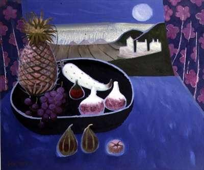 Blue Still Life, 1991 (oil on canvas)