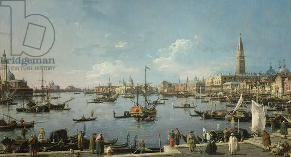 View of the Bacino di San Marco, Venice (oil on canvas)