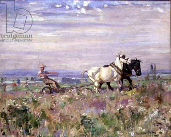 The Plough Team, 1919 (w/c on paper)