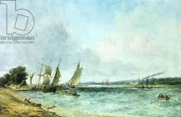 English seascape (oil on canvas)