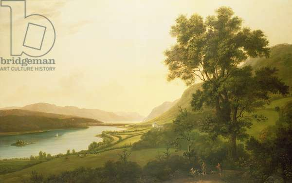 View of Loch Ness (oil on canvas)