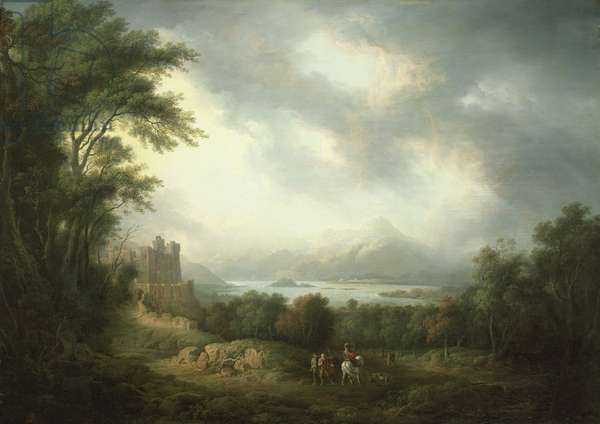 View of Loch Lomond (oil on canvas)