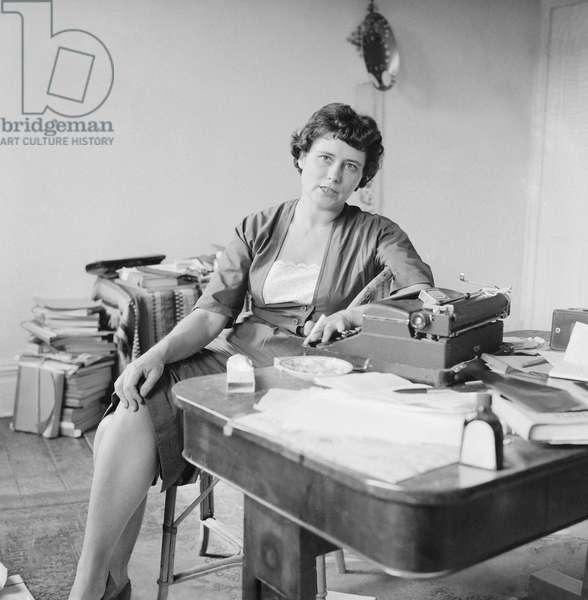 Doris Lessing (b/w photo)