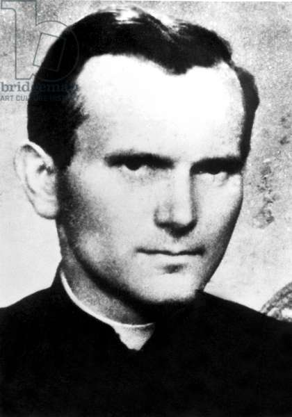 Karol Wojtyla, futur Jean - Paul II, jeune prêtre ph Morici /