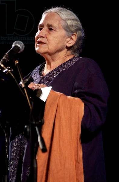 Doris Lessing, Festival of Literature, Basilica di Massenzio, Rome, 21st May 2003 (photo)