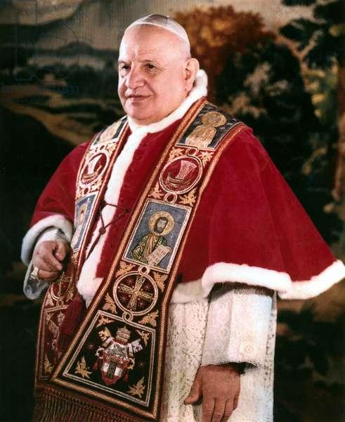 Le Pape Jean XXIII (1881 - 1963) à Rome. Photo de FELICI.