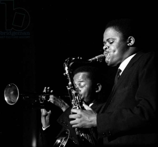 San Remo, 02/1960: Festival International de Jazz. Portrait de Stanley Turrentine.