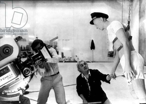 Tournage du Film LA CITTA DELLE DONNE (la cité des femmes) 1980 de Federico Fellini