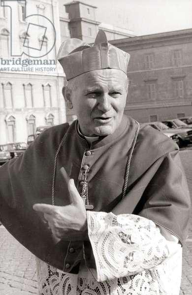 Le Cardinal Karol Wojtyla, futur Pape Jean Paul II, en 1978.© Dufoto/Farabolafoto/Leemage