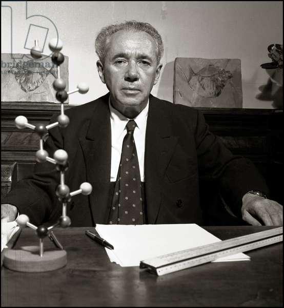 Portrait de Giulio Natta (Prix Nobel de Chimie), 1963