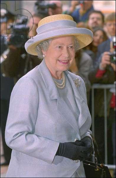 Milano 19/10/2000. Visite de la Reine Elisabeth II d'Angleterre à Palazzo MARINO.