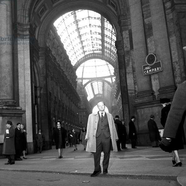 Milan, le 24/02/1966. L'écrivain Truman Capote (1924 - 1984).