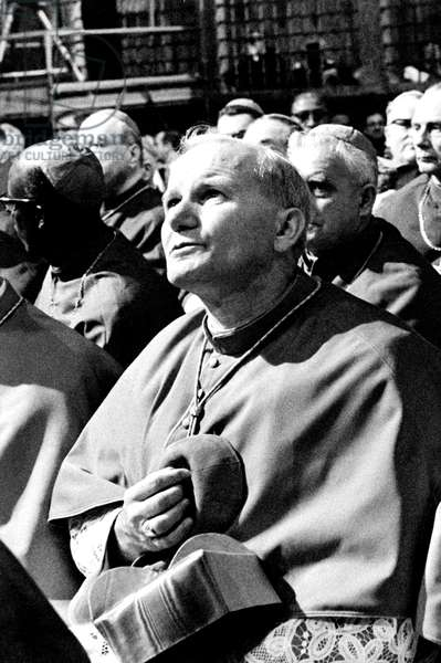 Karol Wojtyla (Futur Pape Jean - Paul II) ph Dufoto /