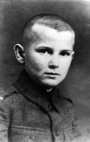 Karol Wojtyla (futur Jean - Paul II) adolescent. ©MORICI/Farabolafoto/Leemage