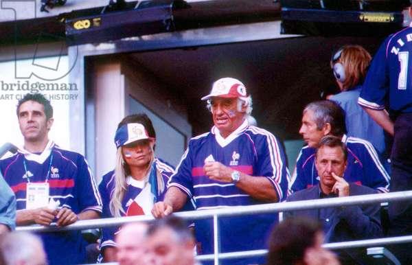 Jean Paul Belmondo au stade de Saint-Denis (Saint Denis) le 12/07/1998. Coupe du Monde de Football : France contre Bresil. © Sabattini/Farabola/Leemage