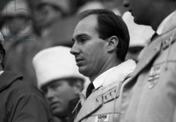 Innsbruck (Tirolo - Austria), Febbraio 1964 IX Giochi olimpici invernali - Inaugurazione Karim Aga Khan IV (Karim al-Husayni), capitano della squadra dell'Iran