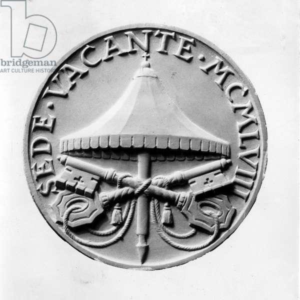 Vatican, 1958. Conclave. Blason commemoratif.