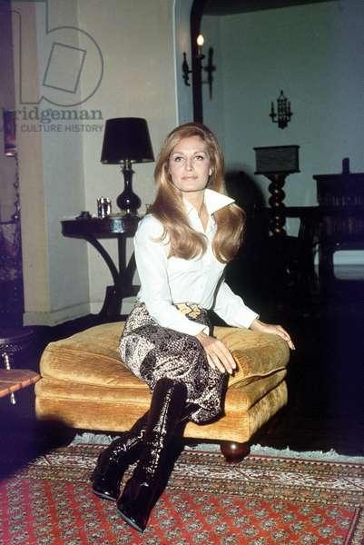 Annees 1970. La chanteuse Dalida.