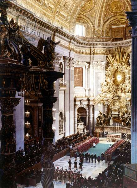Vatican 10/1958. Conclave pour l'election du nouveau Pape.