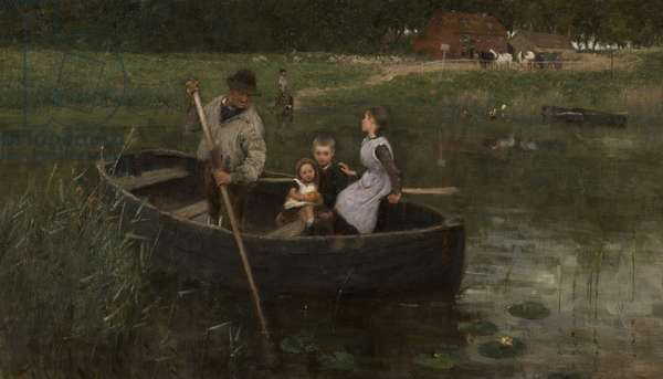 The Ferry, 1887 (oil on canvas)